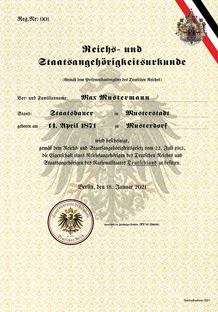 RuSta-Urkunde
