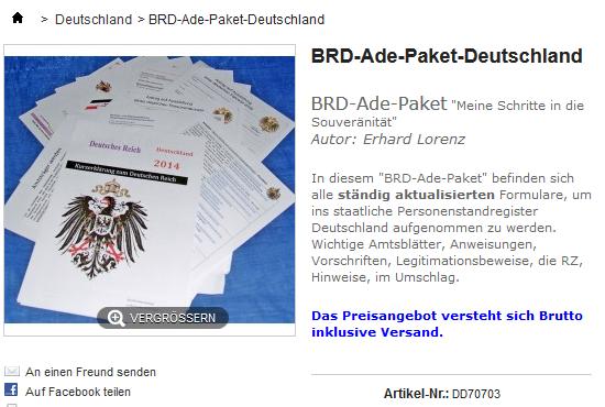 BRD-Ade-Paket-Deutschland
